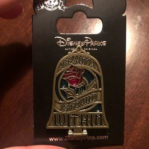 Brand new Beauty and the Beast Disney Rose pin